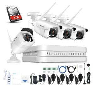 Annke sistema di videosorveglianza senza fili 1080 FHD