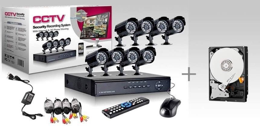 Kit di videosorveglianza IP Allarm Shop