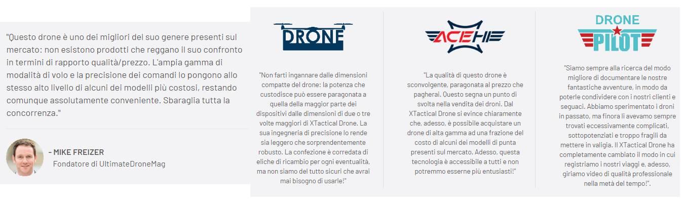 x tactical drone opinioni e testimonianze