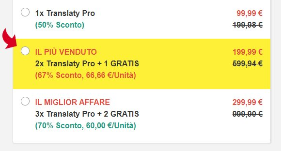 Translaty Pro prezzo