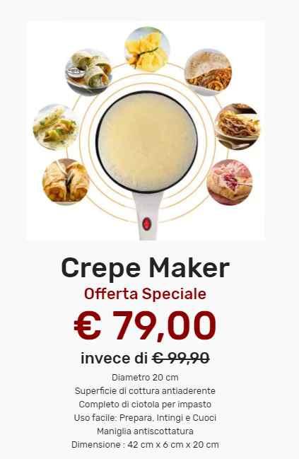 crepe maker prezzo